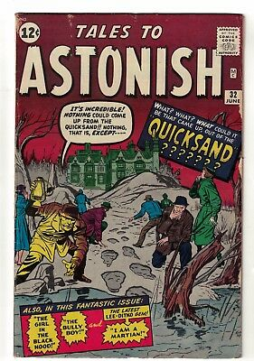 MARVEL COMICS TALES TO ASTONISH 32 VG+ 4.5 1962  Sandman proto type spiderman