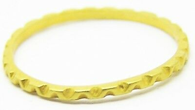 Nice Ancient Roman Gold Finger Ring c. 4th - 5th century AD Angular Wave Design
