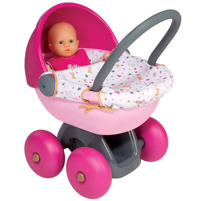 Smoby Children's  First Pink Pram Imaginary Pretend Role Play - Age 18+ Months