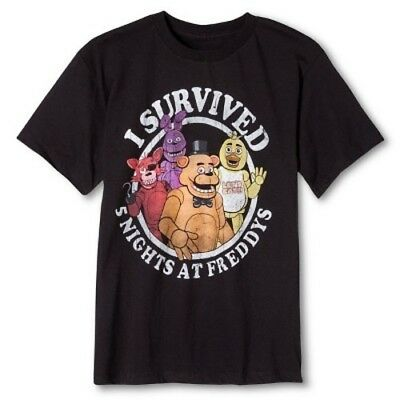 NEW Five Nights at Freddy's  Boys' Graphic T-Shirt Black - S