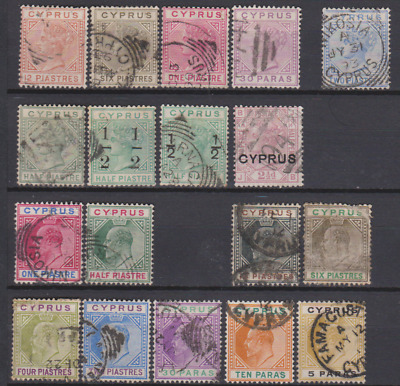 Cyprus 1880's/1900's Collection Used
