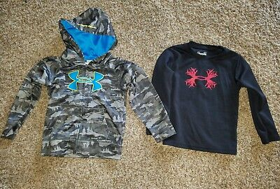 Toddler Boys Under Armour Shirt Hoodie Lot Size 3T EUC