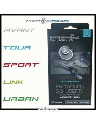 RXUK Kit Audio Pro Sound Interphone Tour Sport Urban Link SCHUBERTH C3 - C3 Pro