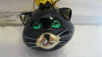 Hallmark MINI BLOWN GLASS Trimmer HALLOWEEN CAT