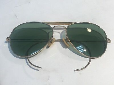 399c01d35f Vintage WW2 Anti-Glare Ray Ban Bausch And Lomb Aviator Sunglasses With Case