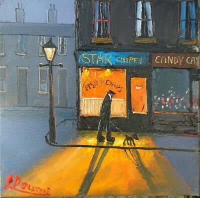 THE STAR CHIPPY original oil painting james downie