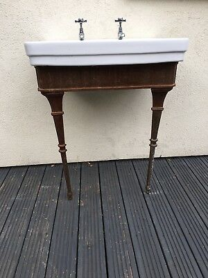 Vintage Sink And Cast Iron Stand