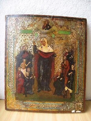 Icona Russa,Antique Russian Orthodox icon from 19c.