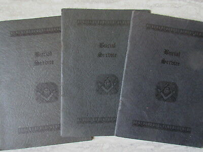 3 Old 1938 Masonic Burial Service Booklets Grand Lodge Nova Scotia