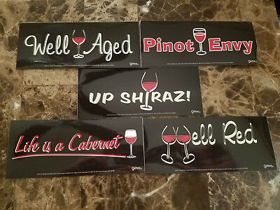 Enjoy 5 Different Wine Stickers For The Ladies Pinot Shiraz Cabernet Ect