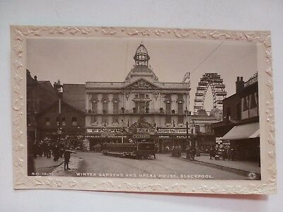 Vintage Postcard Winter Gardens And Opera House Blackpool Real Photo (N)