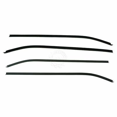Inner & Outer Window Sweep Belt Seals Weatherstrip Set of 4 for Corvette Coupe