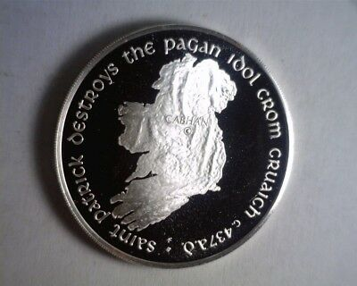 1974 Ireland Map St Patrick 999 fine silver PROOF Medal by Franklin Mint