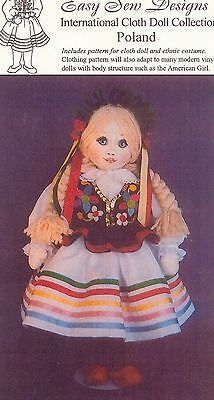Doll Pattern International Cloth Dolls Collection Poland Cloth Doll BHD 1463