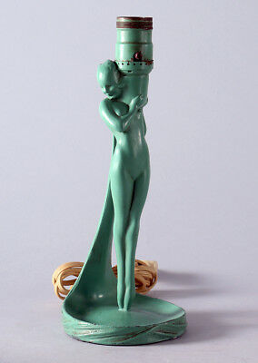 Very Rare Antique Frankart Greenie Girl Lamp Pin-up Form L203 Dated 1924 Sublime