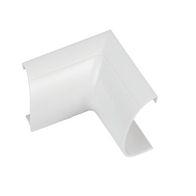20 mm x 10 mm Blanc Câble Coaxial Trunking//conduit Cover-AV//TV mural 5x 1 m 5 m