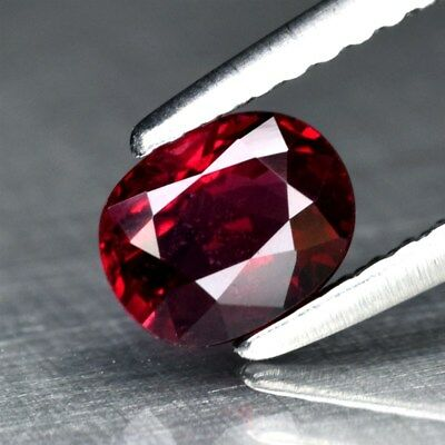 Stunning! 0.70ct 5.8x4.6mm Oval Natural Red Spinel, M'GOK