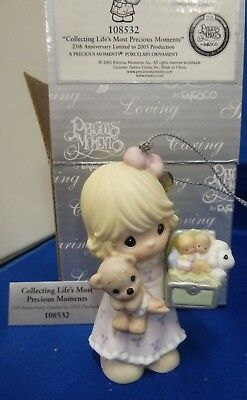 Collecting Lifes Most Precious Moments Ornament 108532 NIB  25th Anniv Limited