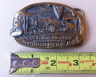 Southern Pacific AC-12 Cab Forward 4882 Train Belt Buckle Great American 1984