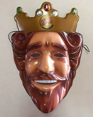 Genuine Official Burger King Mask BK ~ BRAND NEW ~ Fast Free Shipping