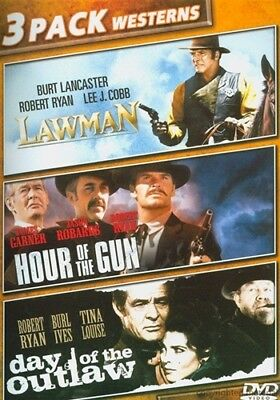 LAWMAN + HOUR OF THE GUN + DAY OF THE OUTLAW New Sealed DVD 3 Pack Western