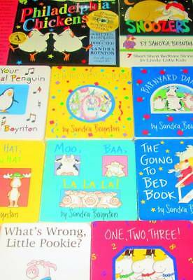 Sandra Boynton Lot of 10 -HC/BOARD BOOKS/CD-Snoozers, Philadelphia Chickens, Goi