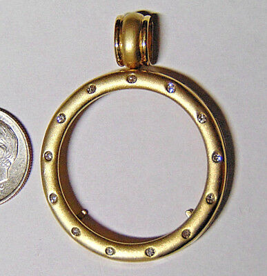 14k Gold Bezel For $10 Gold Indian or $10 Gold Liberty Eagle Made In Israel