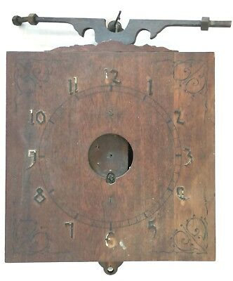 Antique Wall Clock Project with Large Wooden Gears