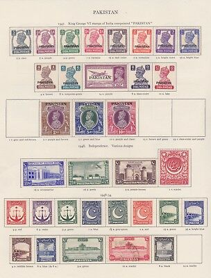 Pakistan Stamps Old Time Page King George Vi Mint Including High Values