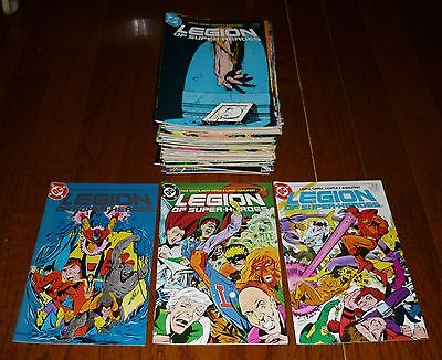 Lot of 60 Legion of Super-Heroes # 1-63 ++ DC Comics, 1984-1989 HIGH GRADE