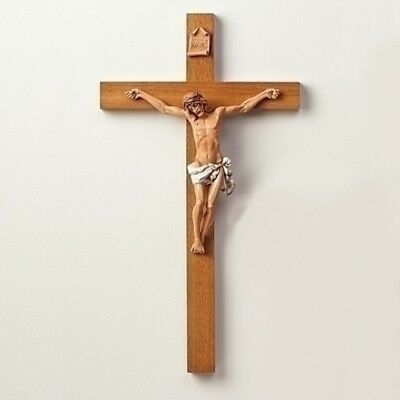 Fontanini Crucifix Made in Italy 22.5 Inch Christ on Wood Cross