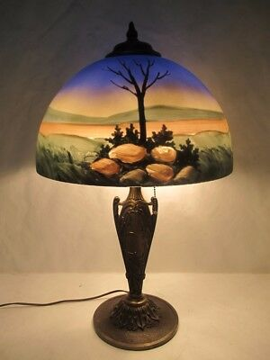 Magnificent C.1900 Jefferson/pittsburgh Reverse Painted Lamp