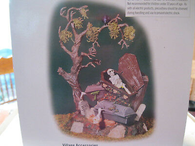 Dept 56 HALLOWEEN * ANIMATED HAUNTED GRAVE YARD Graveyard SV Snow Village