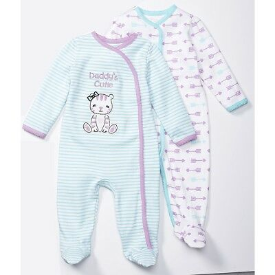 Koala Baby 2-Pack Sleeper, Pink & Blue, Arrows, Newborn