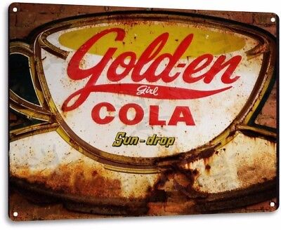 Gold-en Cola Vintage Retro Tin Metal Sign