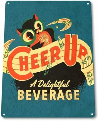 Cheer Up Soda Vintage Retro Tin Metal Sign