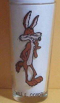 1973 Warner Bros Wile E. Coyote Pepsi Collector Series 6 1/4 Drinking Glass Nc