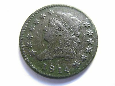 1814  Crosslet 4 Classic Head Large Cent    nice -