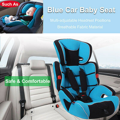 Light Blue Forward Facing Baby Child Kid Car Seat & Booster Seat 9 mon-12 years