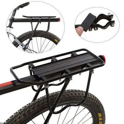 US Mount Bike Bicycle Rear Rack Seat Post Mount Pannier Luggage Carrier Aluminum