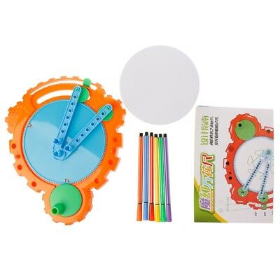 Kid Spirograph Drawing Deluxe Design Set Original Toy Gears Wheels Creative Game