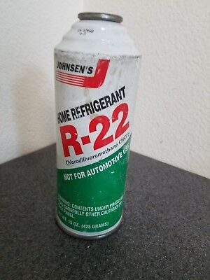 (1) 15oz Can of Johnsens R-22 R22 Home AC Air Conditioning Refrigerant