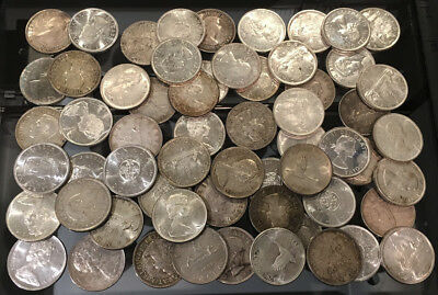 60 CANADA .800 SILVER DOLLARS (36.0 TrOz Actual Silver Wt) NICE !! >> NO RESERVE