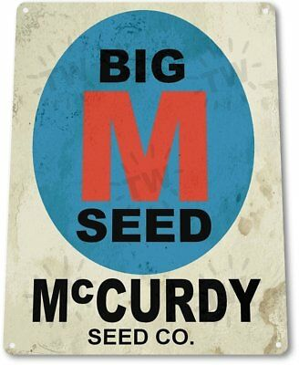 McCurdy Seeds Farm Vintage Retro Tin Metal Sign