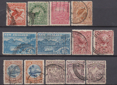 New Zealand 1898 Used Part Set to 1/- Cat £170