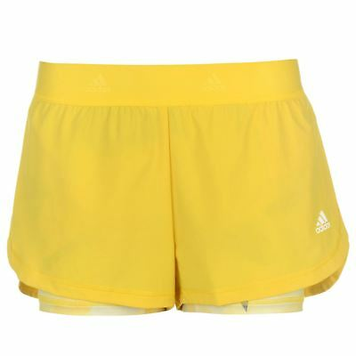 adidas Womens 2in1 Shorts Performance Pants Trousers Bottoms