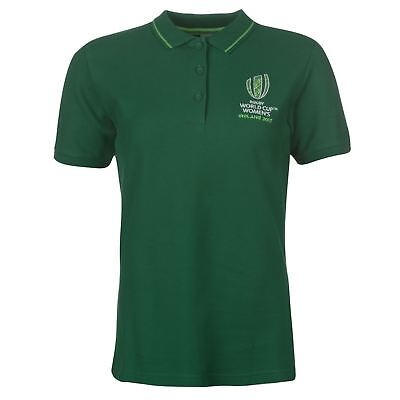 WRWC Womens Rugby World Cup Ireland Polo Shirt Tee Top Short Sleeve Classic Fit