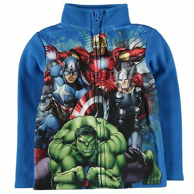 Character Kids Boys Zip Fleece Infant Full Top Sweatshirt Jumper Long Sleeve