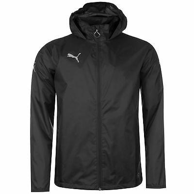 Puma Mens Essential Rain Jacket Coat Top Breathable Hooded Zip Full WindCell