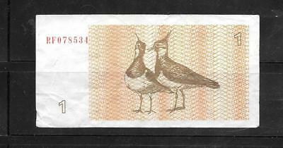 Lithuania #39 1992 Vg Circulated Talonas Banknote Bill Note Currency Paper Money